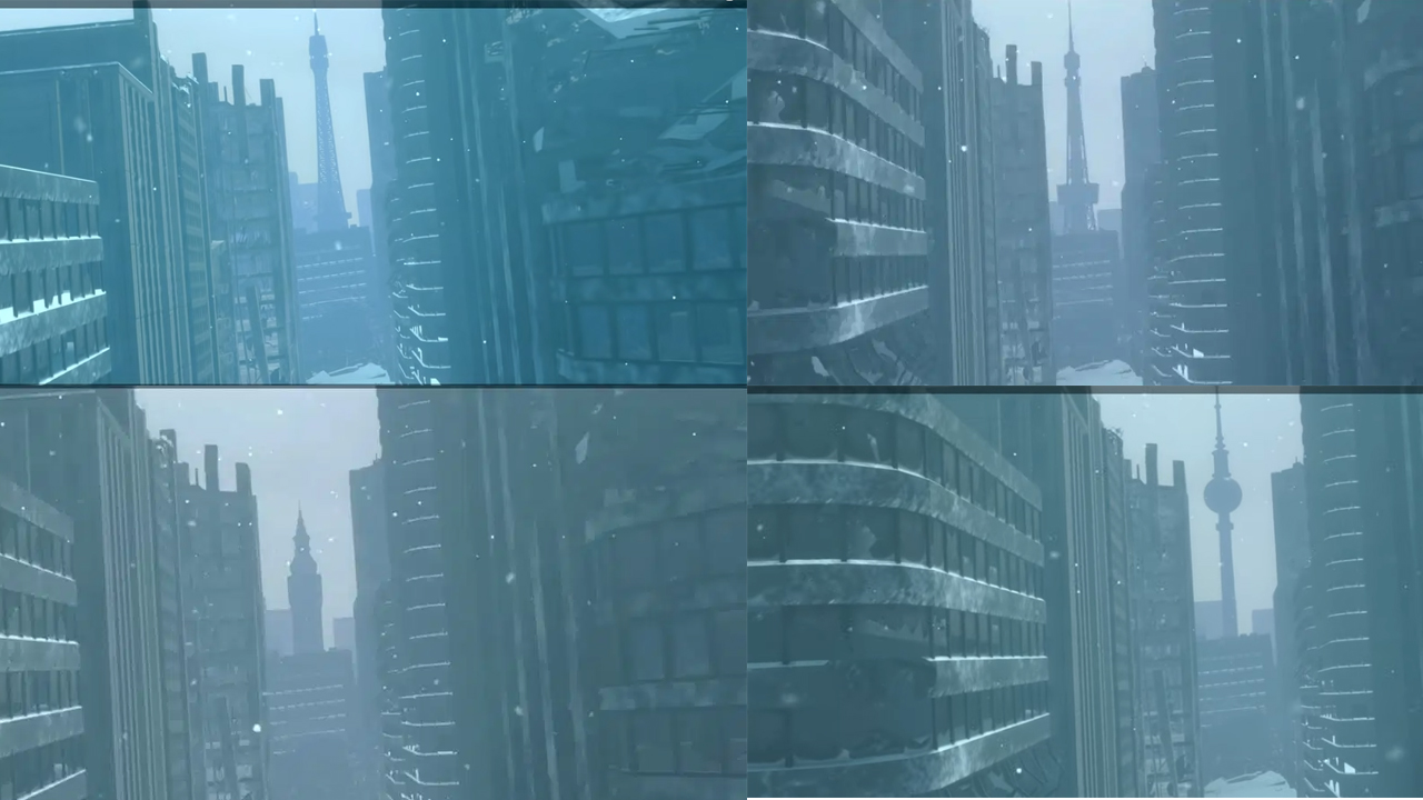NieR Replicant ผู้เล่นพบว่าตึกในช่วงเริ่มเกมจะต่างออกไปตามภาษาที่เลือก